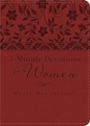 3-Minute Devotions For Women Daily Devotional Burgundy