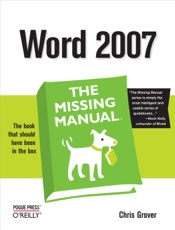 Download Word 2007: The Missing Manual