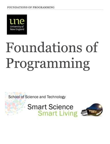 Foundations of Programming E-Book Download