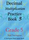 Decimal Multiplication Practice Book 3 Grade 5