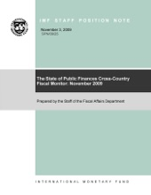The State Of Public Finances Cross-Country Fiscal Monitor: November 2009