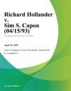 Richard Hollander V Sim S Capon 041593