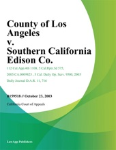 County Of Los Angeles V. Southern California Edison Co.