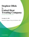 Stephen Ollok V United Heat Treating Company