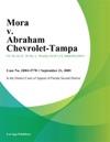 Mora V Abraham Chevrolet-Tampa