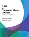 Kure V Chevrolet Motor Division