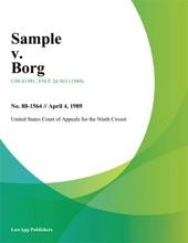 Sample V. Borg