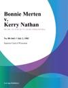 Bonnie Merten V Kerry Nathan