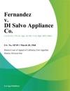 Fernandez V Di Salvo Appliance Co