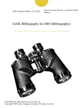 IASIL Bibliography For 2003 (Bibliography)