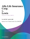 Alfa Life Insurance Corp V Lewis