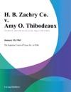 H B Zachry Co V Amy O Thibodeaux