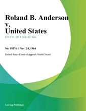 Roland B. Anderson V. United States