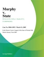 Murphy V. State