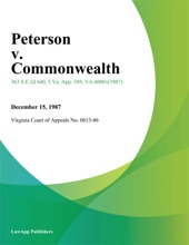 Peterson V. Commonwealth