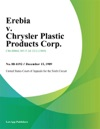 Erebia V Chrysler Plastic Products Corp