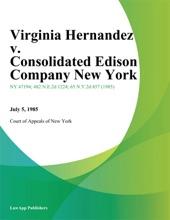 Virginia Hernandez V. Consolidated Edison Company New York