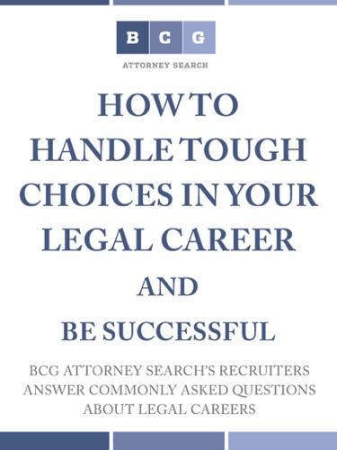 A Harrison Barnes - How to Handle Tough Choices in Your Legal Career and be Successful