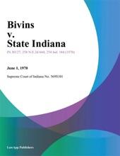 Bivins V. State Indiana