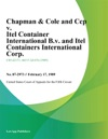 Chapman  Cole And Ccp V Itel Container International BV And Itel Containers International Corp Itel