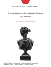 Winning Ways with Word Walls (Classroom Idea-Sparkers)