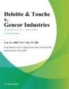Deloitte  Touche V Gencor Industries