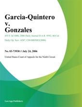 Garcia-Quintero V. Gonzales