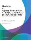 Maduike V Agency Rent-A-Car