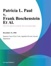 Patricia L Paul V Frank Boschenstein Et Al