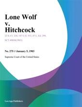 Lone Wolf v. Hitchcock