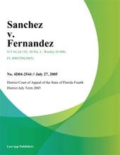 Sanchez V. Fernandez