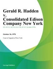 Gerald R. Hadden V. Consolidated Edison Company New York