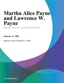 Martha Alice Payne And Lawrence W. Payne read online