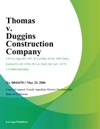 Thomas V Duggins Construction Company