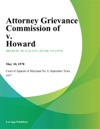 Attorney Grievance Commission Of V Howard