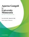 031594 Aparna Ganguli V University Minnesota
