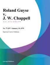 Roland Guyse V. J. W. Chappell