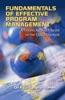 Fundamentals Of Effective Program Management
