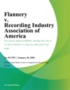 Flannery V Recording Industry Association Of America