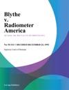 Blythe V Radiometer America