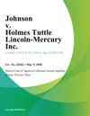 Johnson V Holmes Tuttle Lincoln-Mercury Inc