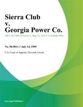 Sierra Club V. Georgia Power Co.