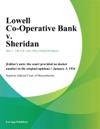 Lowell Co-Operative Bank V Sheridan