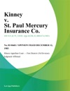 Kinney V St Paul Mercury Insurance Co