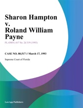 Sharon Hampton V. Roland William Payne