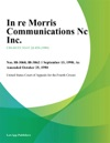 In Re Morris Communications Nc Inc