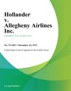 Hollander V Allegheny Airlines Inc