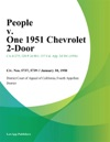 People V One 1951 Chevrolet 2-Door