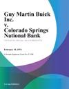 Guy Martin Buick Inc V Colorado Springs National Bank