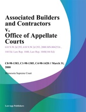 Associated Builders And Contractors V. Office Of Appellate Courts